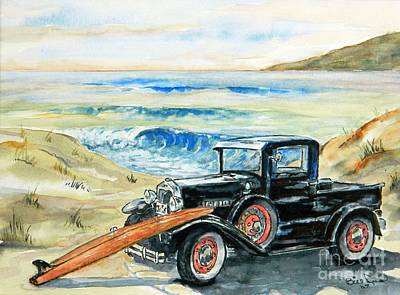 Old Beach Buggy Poster