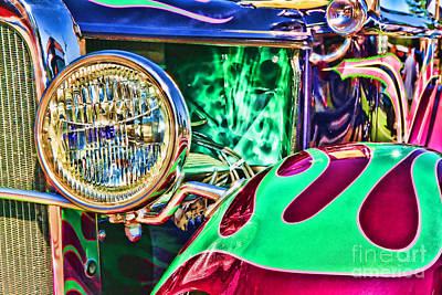 Old Betty Ford Vintage Car By Diana Sainz Poster