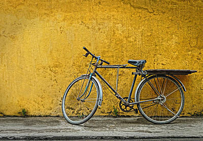 Poster featuring the photograph Old Bike by Kim Andelkovic