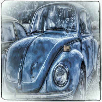 Old Blue Bug Poster by Jean OKeeffe Macro Abundance Art