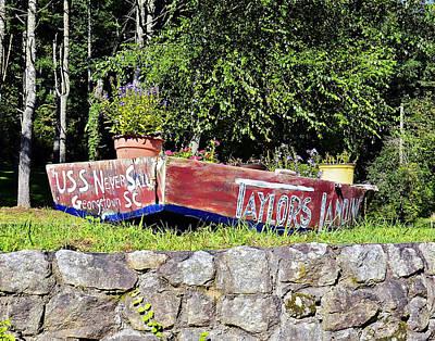 Old Boat Planter Poster by Susan Leggett