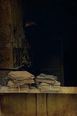 Old Books Poster by Jaroslaw Blaminsky