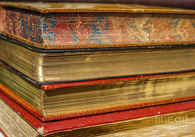 Old Books With Golden Pages Poster by Patricia Hofmeester