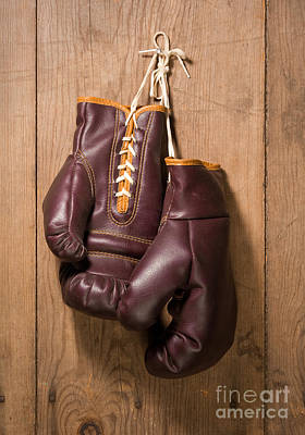 Old Boxing Gloves Poster by Danny Smythe