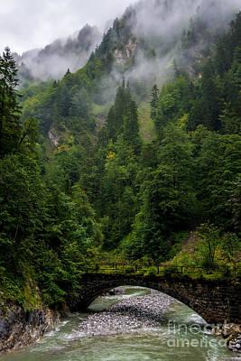 Old Bridge - Austrian Alps - Austria Poster by Gary Whitton