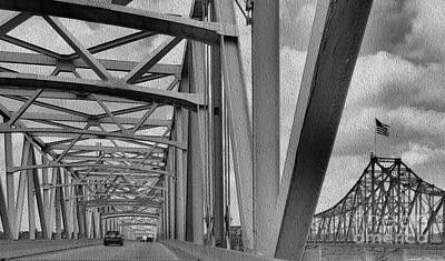Poster featuring the photograph Old Bridge New Bridge by Janette Boyd