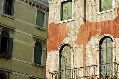 Old Buildings Facades Poster by Sami Sarkis