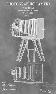 Old Camera Patent Poster