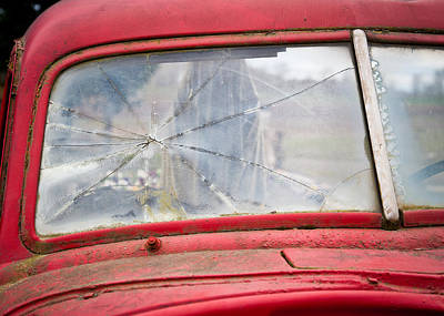 Old Car 2 Poster by Niels Nielsen