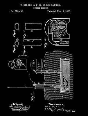 Old Casket Patent Poster