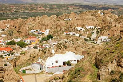 Old Cave Houses In Guadix Poster