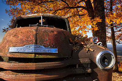 Old Chevy Truck Poster by Debra and Dave Vanderlaan