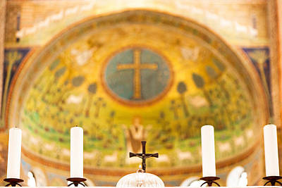 Old Church Alter In Umbria Poster