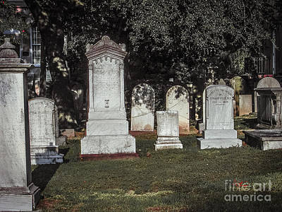 Old Church Cemetery In Charleston South Carolina Poster