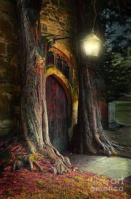 Old Church Door Poster by Jill Battaglia