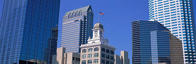 Old City Hall Cityscape Tampa Fl Poster by Panoramic Images