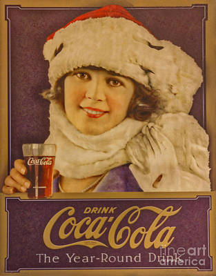 Old Coca Cola Sign Poster by Mitch Shindelbower