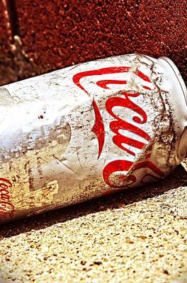 Old Coke Can Poster