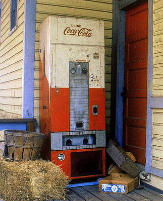 Old Coke Machine Poster
