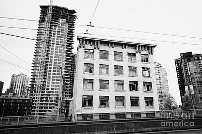 old continental hotel in front of the mark new condo project granville street yaletown Vancouver BC  Poster by Joe Fox