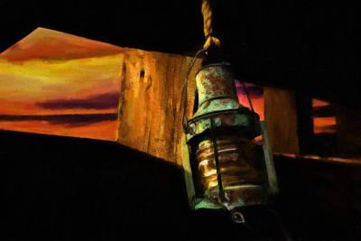 Old Copper Lantern Poster by F Leblanc