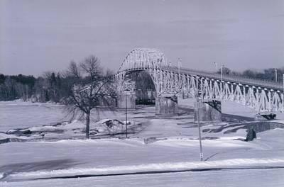 Old Crown Point Bridge In Winter Poster