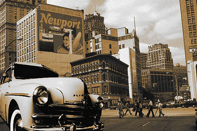 Old Detroit City - Fine Art Poster by Art America Gallery Peter Potter