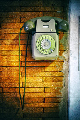 Old Dial Phone Poster by Fabrizio Troiani