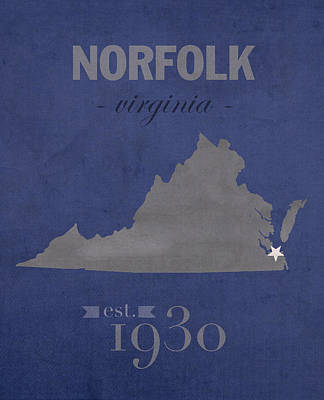 Old Dominion University Monarchs Norfolk Virginia College Town State Map Poster Series No 085 Poster