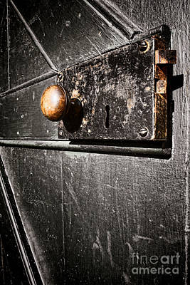Old Door Lock Poster