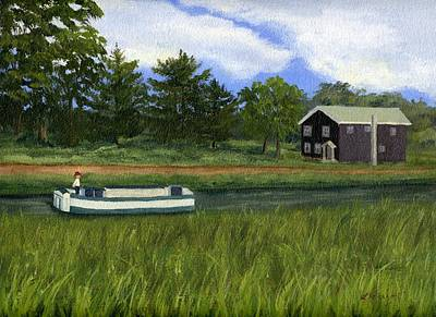 Poster featuring the painting Old Erie by Lynne Reichhart