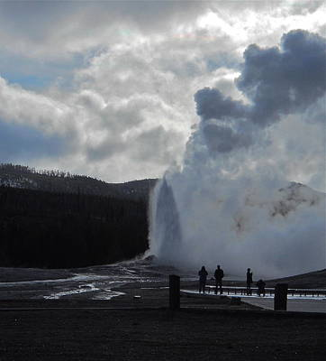 Poster featuring the photograph Old Faithful Morning by Michele Myers