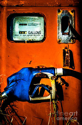 Old Farm Gas Pump Poster