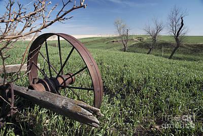 Old Farm Wagon Poster by Art Whitton