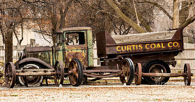 Old Fashioned Rusty Coal Delivery Truck Poster by Gary Whitton