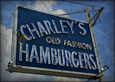 Old Fasion Hamburgers Poster