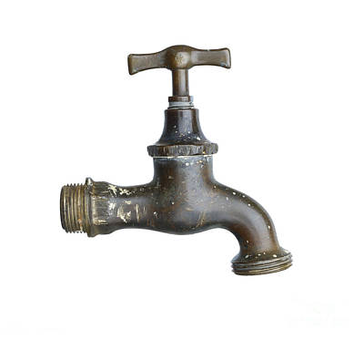 Old Faucet Poster