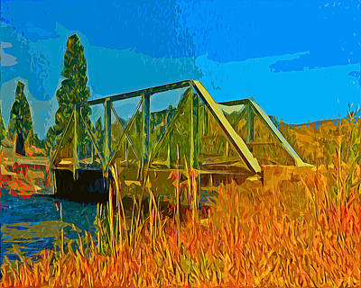 Old Firehole Bridge Poster
