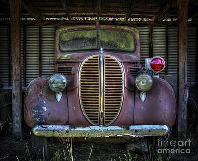 Old Ford Firetruck 2 Poster