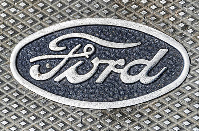 Old Ford Symbol Poster