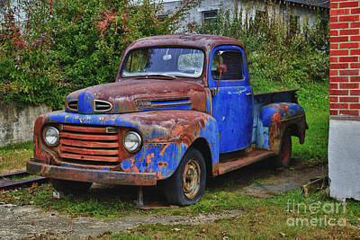 Old Ford Truck Poster by Jill Lang