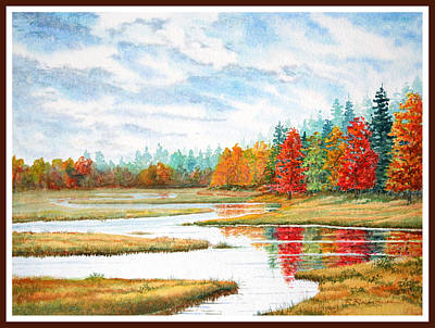 Old Forge Autumn Poster