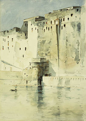 Old Fortress Naples Poster by Childe Hassam
