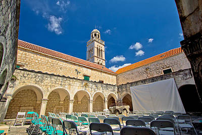 Old Franciscian Monastery Of Hvar Poster by Brch Photography