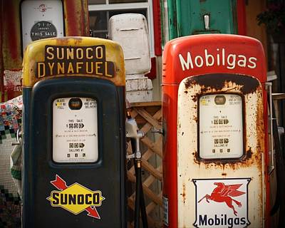 Old Fuel Pumps Poster