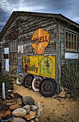 Old Garage Corner Poster