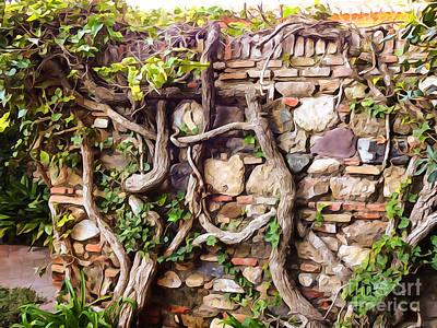 Old Garden Wall Poster by Lutz Baar