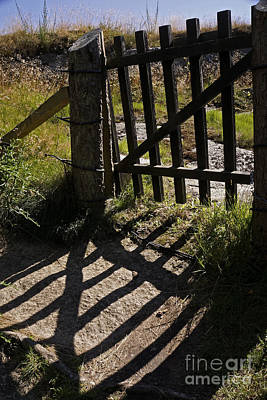 Poster featuring the photograph Old Gate by Inge Riis McDonald