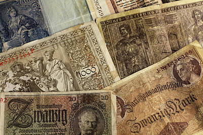 Old German Banknotes Poster by Falko Follert