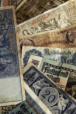 Old German Money Poster by Falko Follert